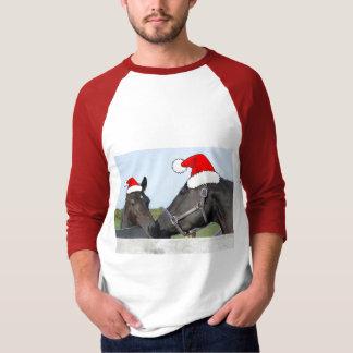 Navidad caballo y potro playera