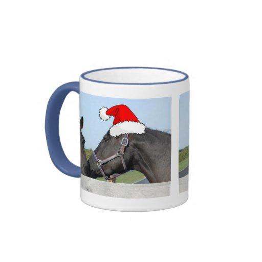 Navidad caballo y potro taza