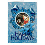 Navidad - calcetines del cocker y margarita de tarjeta de felicitación
