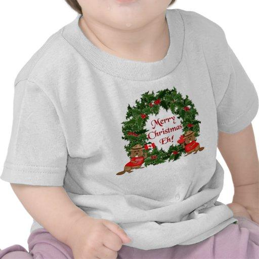 Navidad canadiense camiseta