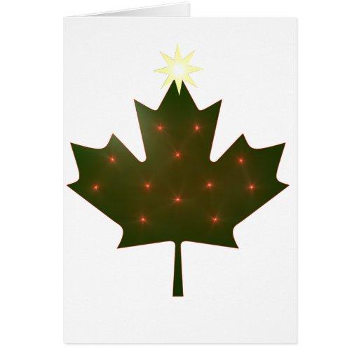 Navidad canadiense tarjeta de felicitación