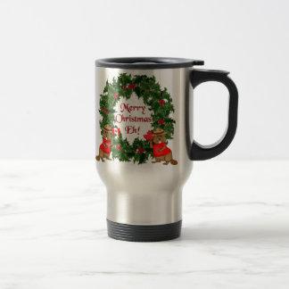 Navidad canadiense taza de viaje