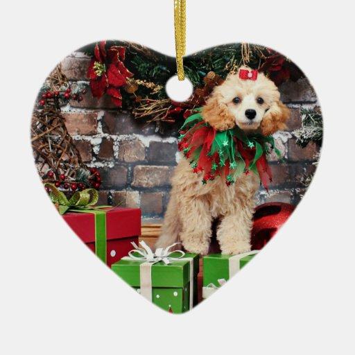 Navidad - caniche - carro ornato