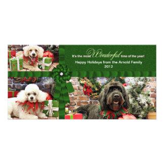 Navidad - caniche Cockapoo - Arnold de GoldenDoodl Tarjetas Personales Con Fotos