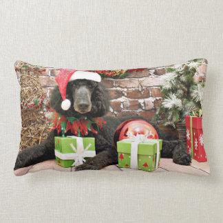 Navidad - caniche estándar - caballo salvaje almohada
