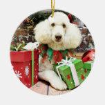 Navidad - caniche estándar - Lucy Adorno
