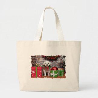 Navidad - caniche - Snookie Bolsa De Mano
