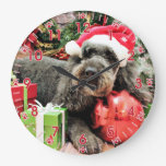 Navidad - caniche - tonelero reloj