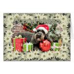 Navidad - caniche - tonelero tarjeta de felicitación