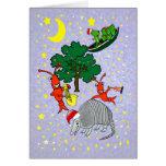 Navidad caprichosa del cocodrilo de los cangrejos tarjeta de felicitación