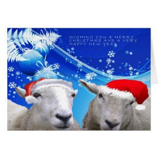 Navidad card.jpg de las ovejas felicitaciones
