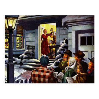 Navidad - Carolers agradables Postal
