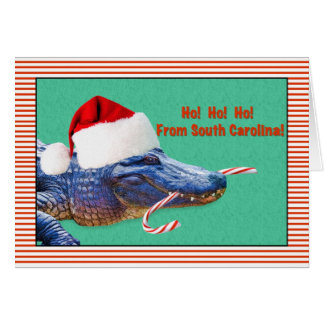 Navidad, Carolina del Sur, cocodrilo Felicitación