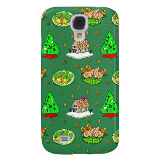 Navidad - casas de pan de jengibre y galletas funda samsung s4