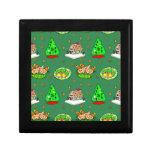 Navidad - casas de pan de jengibre y galletas hela caja de joyas