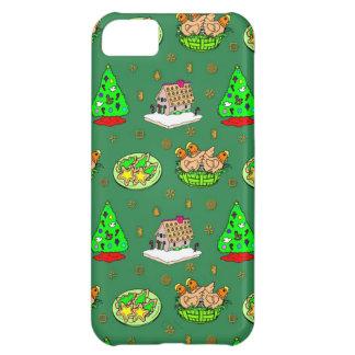 Navidad - casas de pan de jengibre y galletas hela funda para iPhone 5C