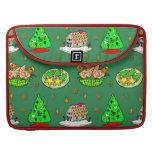 Navidad - casas de pan de jengibre y galletas hela fundas para macbooks