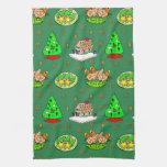 Navidad - casas de pan de jengibre y galletas hela toallas