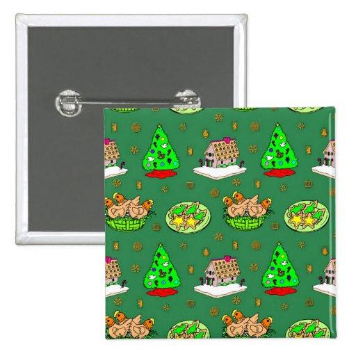 Navidad - casas de pan de jengibre y galletas hela pin