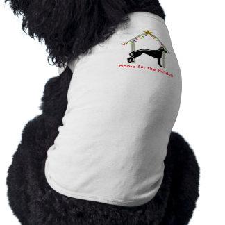 Navidad casera del galgo del logotipo del día de f ropa de perro