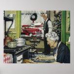 Navidad casero pasado de moda del vintage impresiones