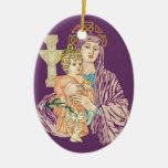 Navidad céltico Madonna Ornamento Para Reyes Magos