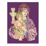 Navidad céltico Madonna Tarjeta Postal