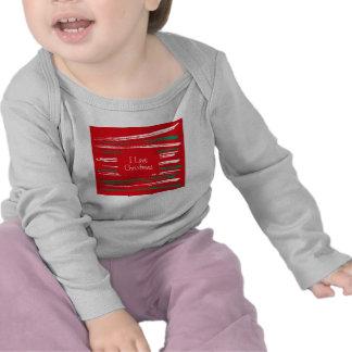 Navidad cepilla la camiseta larga infantil roja de