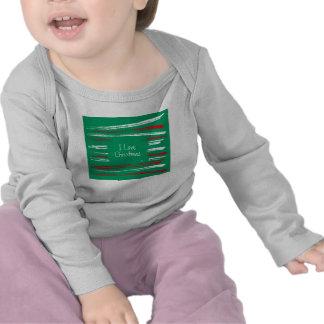 Navidad cepilla la manga larga infantil verde T de Camiseta