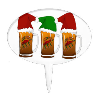 Navidad Cerveza de los amigos de Tres Decoración Para Tarta