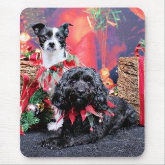 Navidad - ChihShih - Libby y Cockapoo - Bailey Alfombrilla De Raton