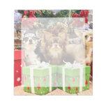 Navidad - chihuahua - azul - muy - yogui bloc