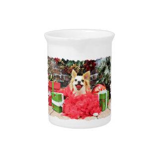 Navidad - chihuahua - hiedra jarras para bebida