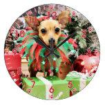 Navidad - chihuahua - margarita reloj