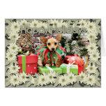 Navidad - chihuahua - margarita tarjeta de felicitación