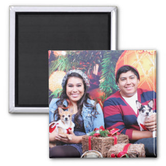 Navidad - chihuahua - MOO del MOO y jengibre Imán Para Frigorífico