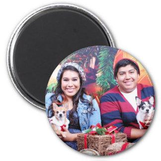 Navidad - chihuahua - MOO del MOO y jengibre Imanes