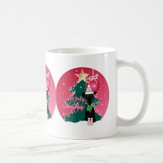 Navidad chillón taza básica blanca