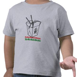 Navidad chino - humor del día de fiesta camisetas