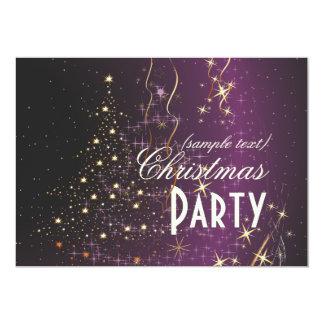 Navidad chispeante Tree/DIY de PixDezines Invitación 12,7 X 17,8 Cm