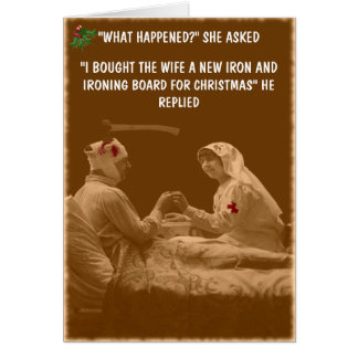 Navidad chistoso de la esposa felicitación