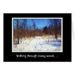 Navidad chistoso de la naturaleza de maderas Nevad Tarjeta