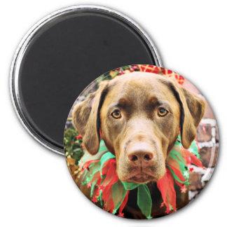 Navidad - chocolate Labrador - Hershey Iman De Nevera