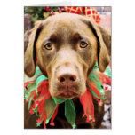 Navidad - chocolate Labrador - Hershey Felicitaciones