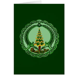 Navidad Claddagh Tarjeta De Felicitación
