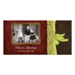 Navidad clásico tarjetas personales con fotos