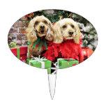 Navidad - Cockapoo - azúcar y especia Figura Para Tarta