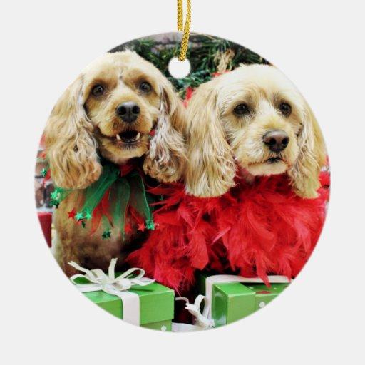 Navidad - Cockapoo - azúcar y especia Ornamentos Para Reyes Magos