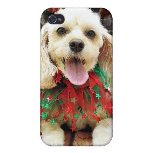 Navidad - Cockapoo - Bella iPhone 4 Funda