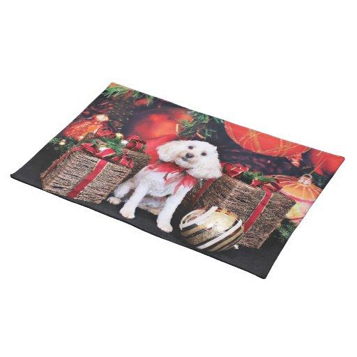 Navidad - Cockapoo - Casey Mantel Individual